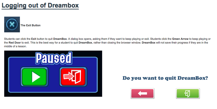 Picture with Directions for Logging out of Dreambox