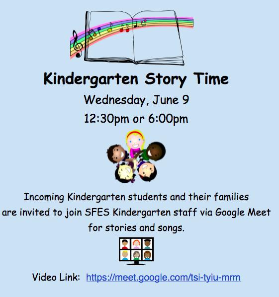Kindergarten Story Time, June 9